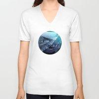 window V-neck T-shirts featuring Window by DM Davis