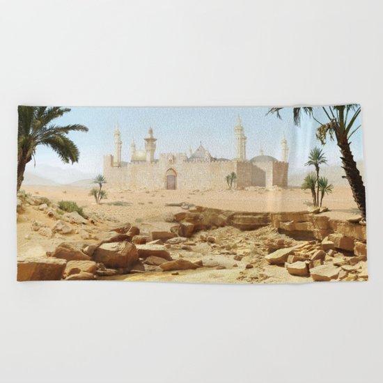 Desert City Beach Towel