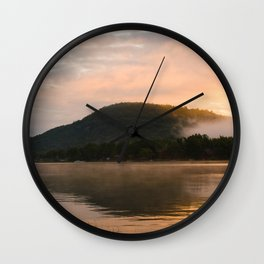 First Light (Sunrise on Lake George) Wall Clock