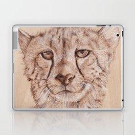Cheetah - Drawing by Burning on Wood - Pyrography Art Laptop & iPad Skin