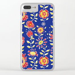 wonky wildflower waterfall ... Clear iPhone Case