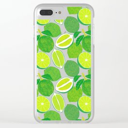 Lime Harvest Clear iPhone Case