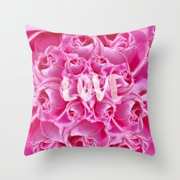 For the love of Roses Throw Pillow
