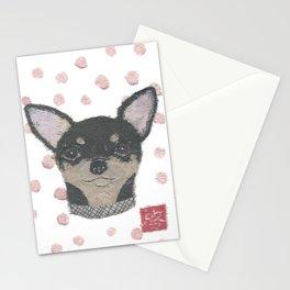 CHIHUAHUA, Dog, Black and Tan Chihuahua Stationery Cards