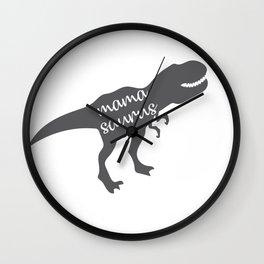 Mama Saurus T-rex Dinosaur Wall Clock