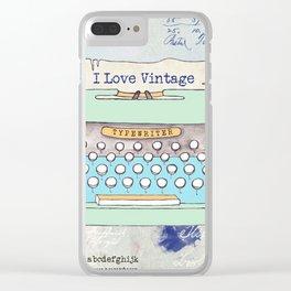 Typewriter #8 Clear iPhone Case