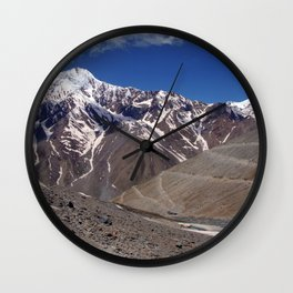 On the Road in Spiti Valley Wall Clock