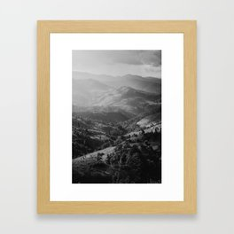 Mountain in Thailand  Framed Art Print
