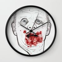 silence of the lambs Wall Clocks featuring Ready when you are, Sergeant Pembry. // Silence of the Lambs by boy Roland