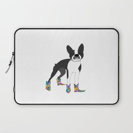 Boston Terrier with cowboy boots Laptop Sleeve