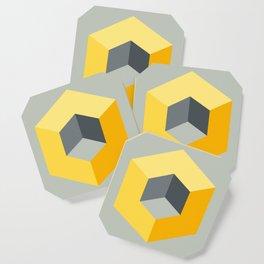 'Iso-Cube Yellow' Coaster