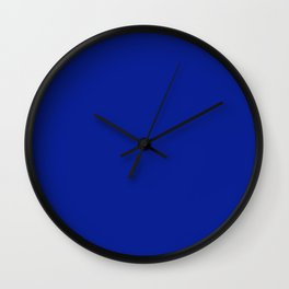 Indigo Dye - solid color Wall Clock