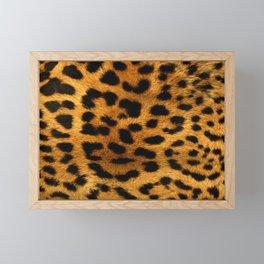 Trendy girly pattern wild safari animal Leopard Print Framed Mini Art Print