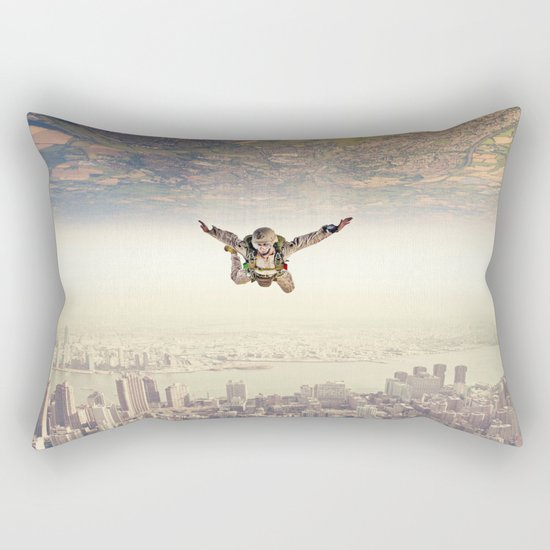 Diving to the Parallel Worlds Rectangular Pillow