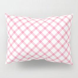 Pink and White Tartan Pillow Sham