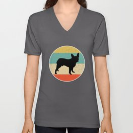 Boston Terrier Dog Gift design Unisex V-Neck