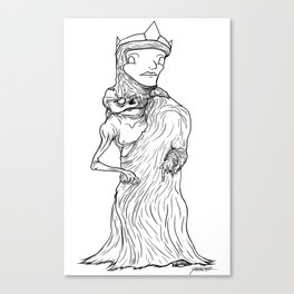 The King of Flesh (Black and White) Canvas Print