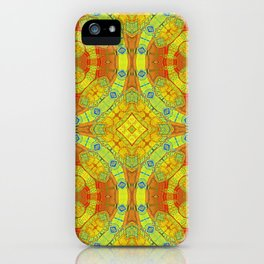 African Vintage Gold and Orange Mandala iPhone Case