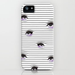 Line of eyes iPhone Case