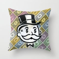 Another Day - Another Dollar Throw Pillow
