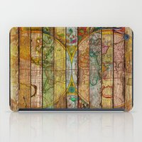 world maps iPad Cases featuring Around the World in Thirteen Maps by Diego Tirigall