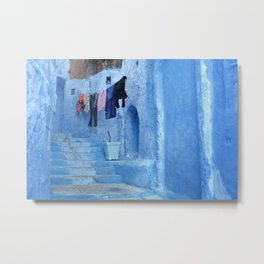 Laundry Day in Morocco Metal Print