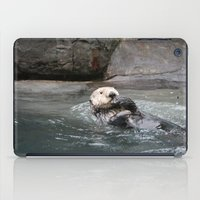 otter iPad Cases featuring Otter by RMK Photography