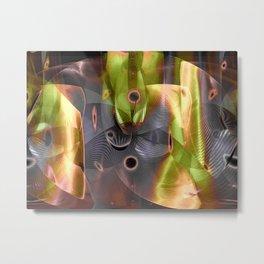 """Line & Shape 12"" Metal Print"
