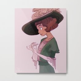 Fancy Hat Metal Print