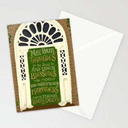 Dublin Door Proverb Stationery Cards