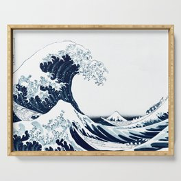 The Great Wave - Halftone Serving Tray