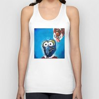 """muppet Tank Tops featuring Gonzo and Camilla Muppet Painting """"Still a Better Love Story"""" by Kristin Frenzel"""