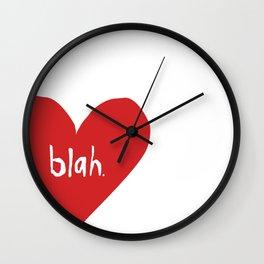 Ambivalent Valentine Wall Clock