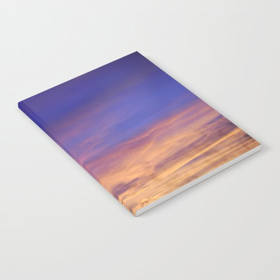 COME AWAY WITH ME - Autumn Sunset #1 #art #society6 Notebook