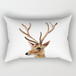 deer watercolor painting Rectangular Pillow