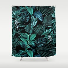 Tropical Garden Shower Curtain