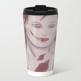 zombie in red Metal Travel Mug