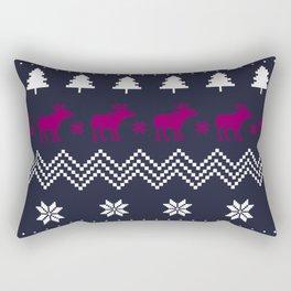 Holiday Moose Rectangular Pillow