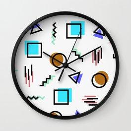Memphis Graphics Wall Clock