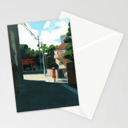 Landscape with shrine Stationery Cards