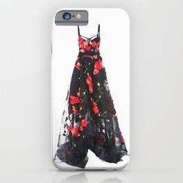 Rose Dress Fashion Illustration iPhone Case