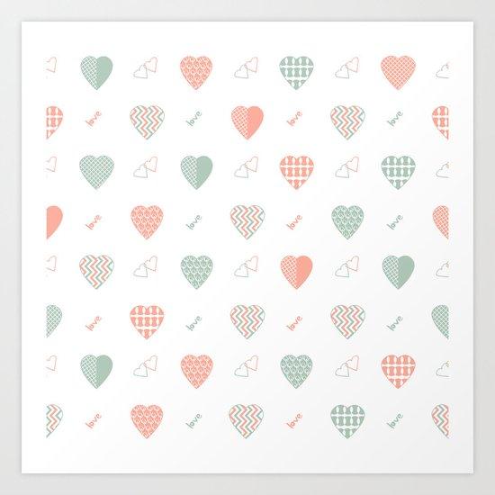 AFE Abstract Hearts Art Print