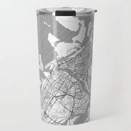 Dubai Map Line Travel Mug
