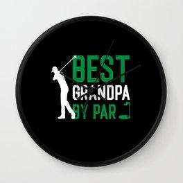 Grandpa Retired Golf hobby Wall Clock