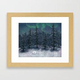 Wintry Forest Framed Art Print