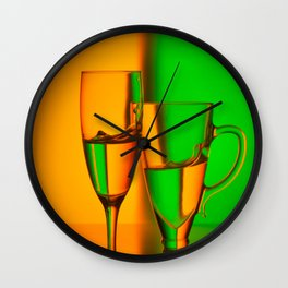 Still life with two glasses Wall Clock