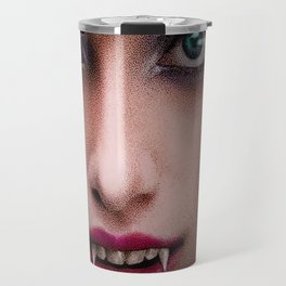 Beautiful Young Seductive Vampire Travel Mug