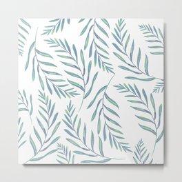 Delicate Leaves Metal Print
