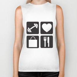 Gym Love Shop Eat Women Racerback Tank Top Shirt Crossfit Train Yoga Gym T-Shirts Biker Tank