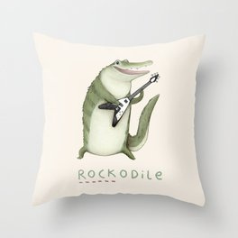 Rockodile Throw Pillow